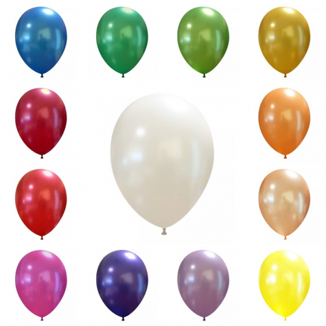 25 Luftballons Metallic Medium